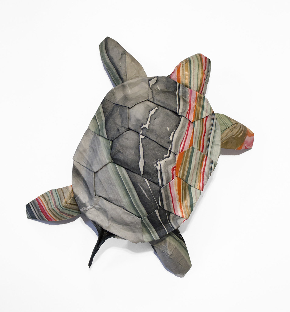 Origami Marbled Turtle Designed And Folded From A Single U Flickr