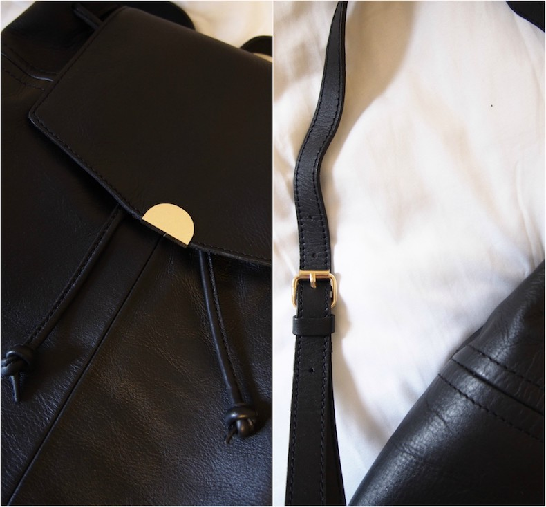 Black Kiomi leather backpack from Zalando