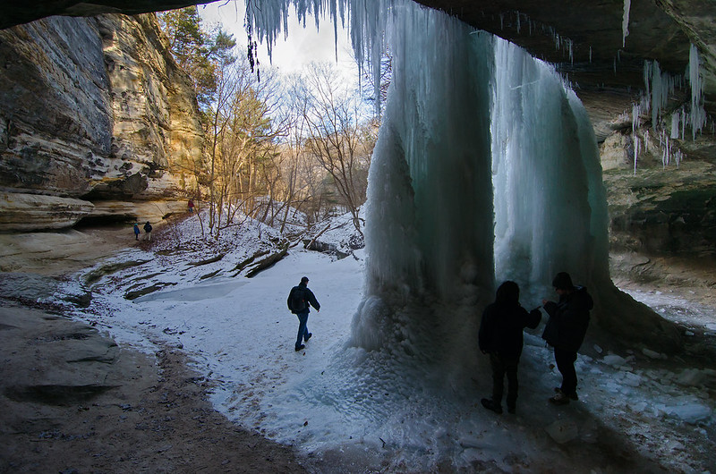 Behind the Frozen Falls