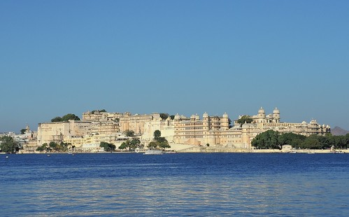 India (Udaipur) City Palace Complex built nearly 400 years ago on the east bank of Lake Pichola | by ustung