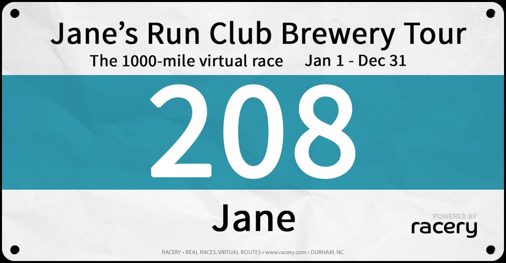 Jane Race Bib