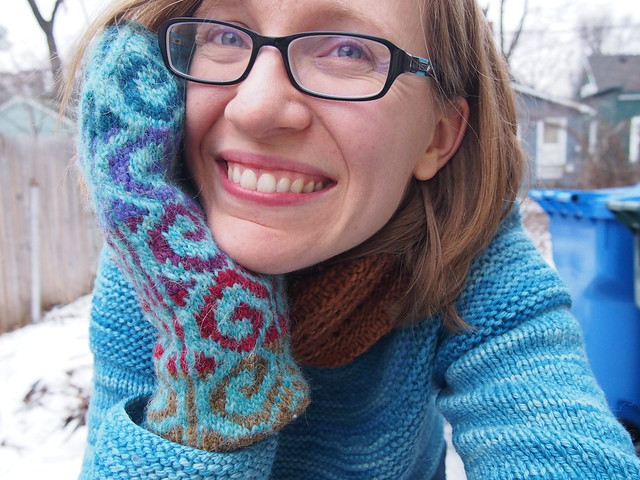 Happy with my new mittens!