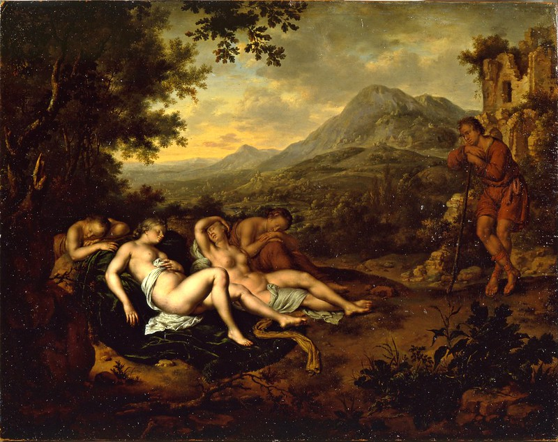 Willem Van Mieris - Cimon and Iphigenia (1698)
