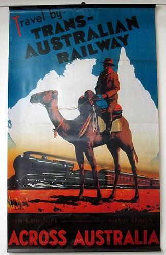 Trans-Australia Railway poster