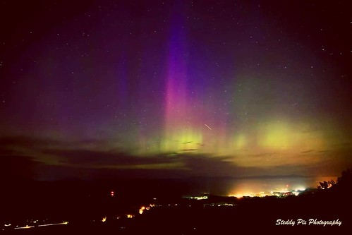 Northern lights danced across the sky on 6/21/15 here in the Hudson Valley, NY