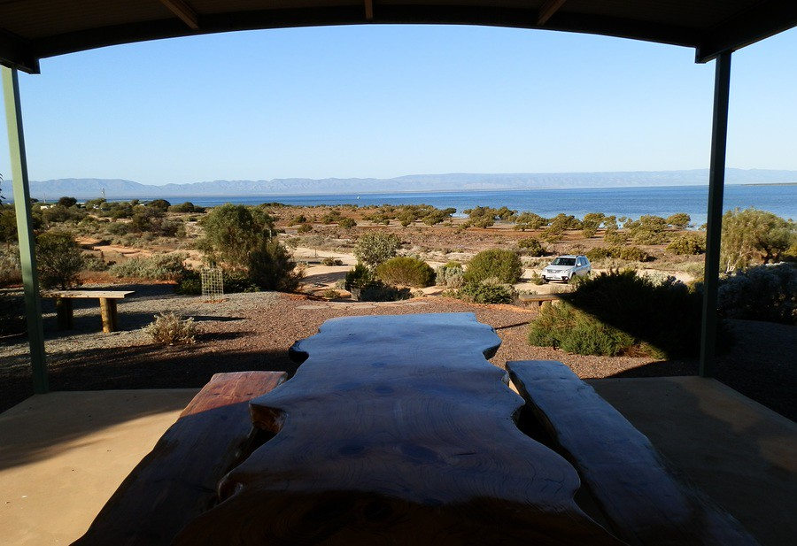 Spencer Gulf and Flinders Ranges from Blanche Harbour Picnic Area