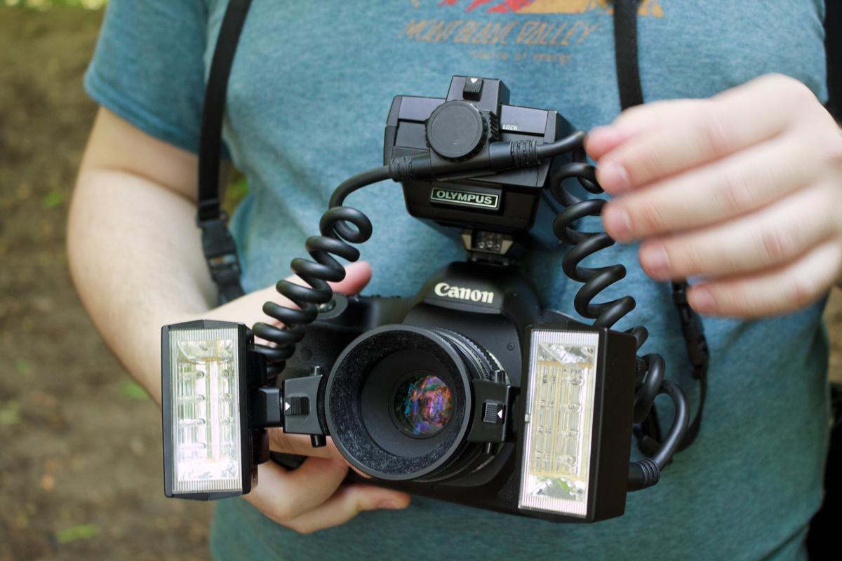 Olympus OM T28 macro flash on Canon