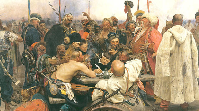 a sultans letter painting 1880 Ilya Repin