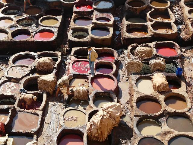 Curtiderías de Fez (Marruecos)