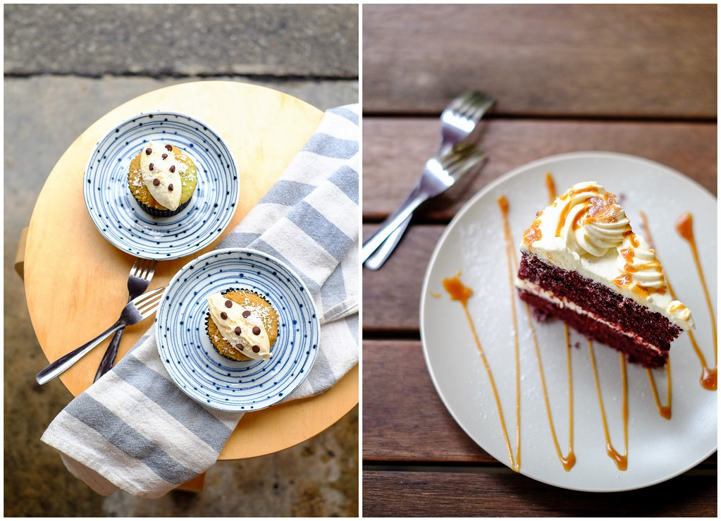 Butter Studio: Speculoos Cookie Butter Tart & Salted Caramel Red Velvet Cake