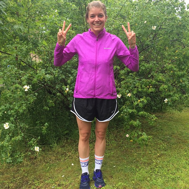 Jag kommer alltid minnas min första mil i regnet på midsommar!