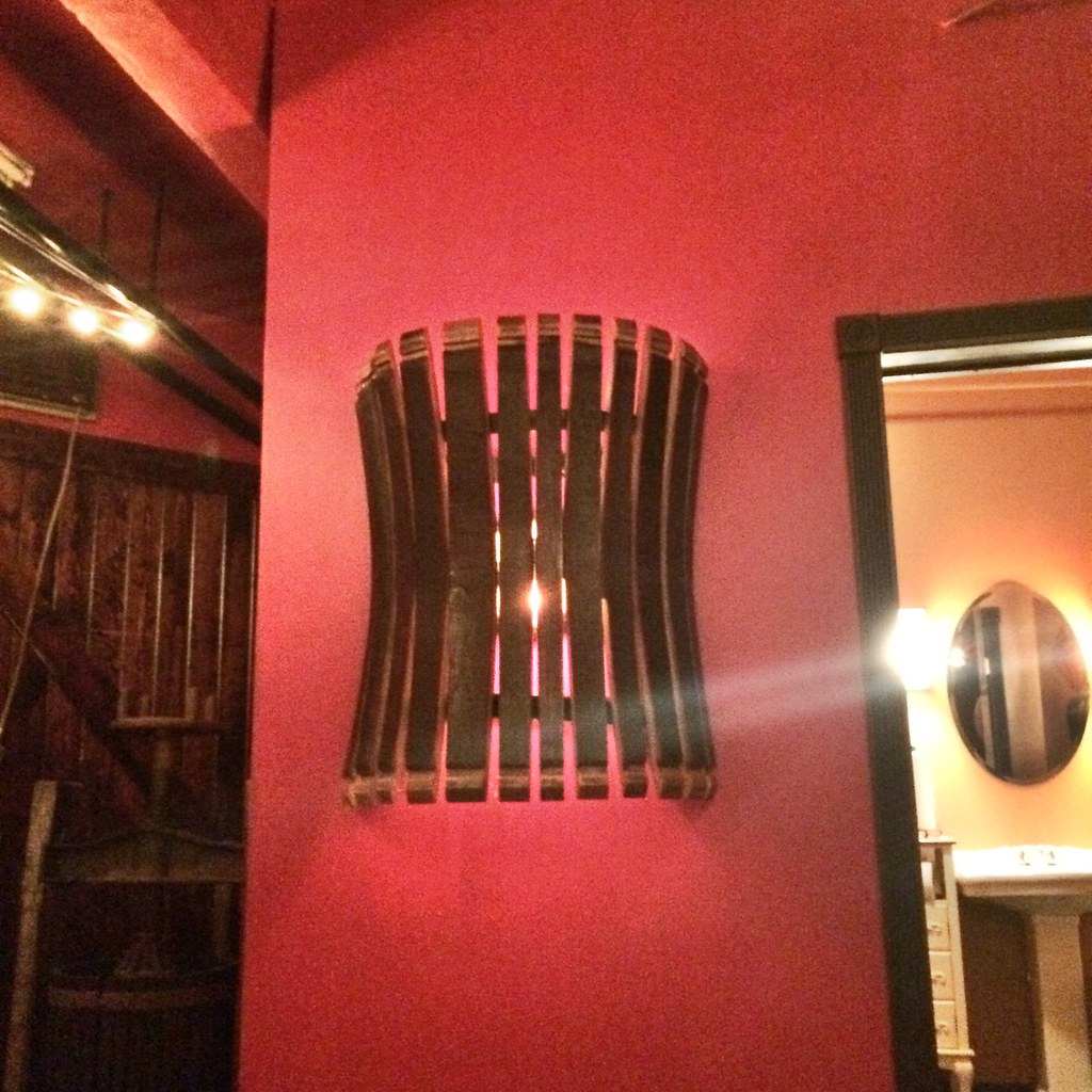 Wine Barrel Stave Wall Sconce At Pittsburgh Winery 2815 Flickr