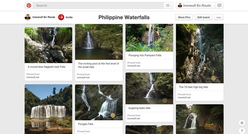 A collection of Philippine Waterfalls in my pinterest