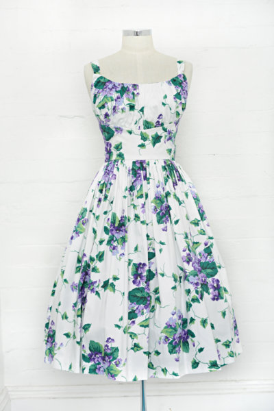 retrospec'd norma jean violets dress