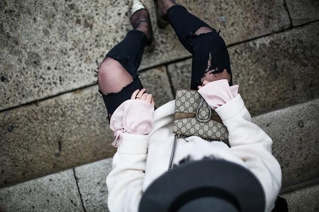 blusa volante lazo aluet zapato glitter zara streetstyle myblueberrynightsblog