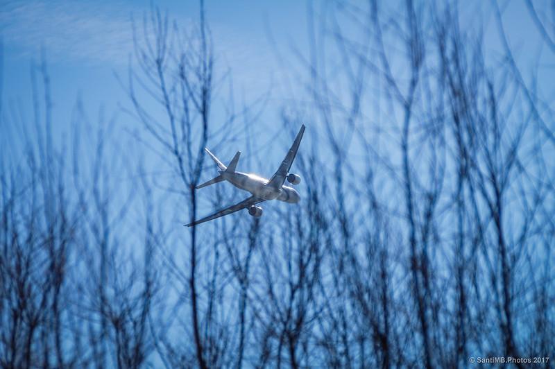 Avión sobre la Marisma de las Filipinas