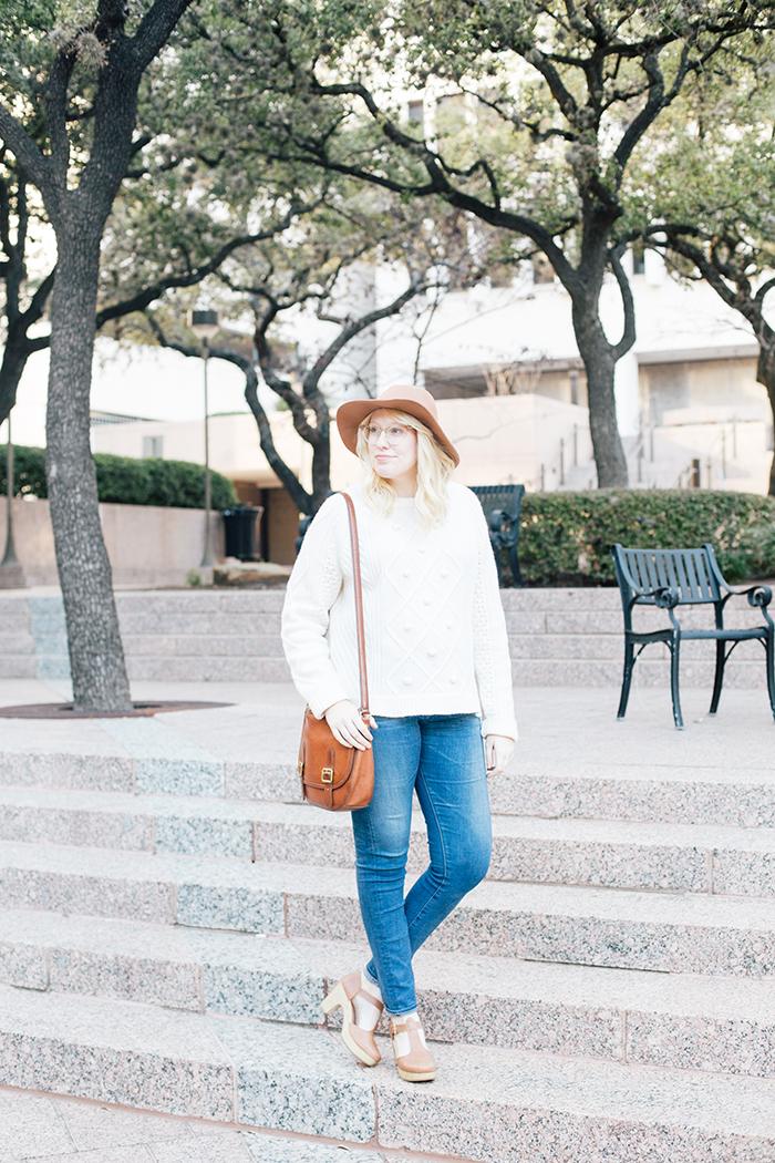 austin style blogger jcrew pom pom sweater clogs2
