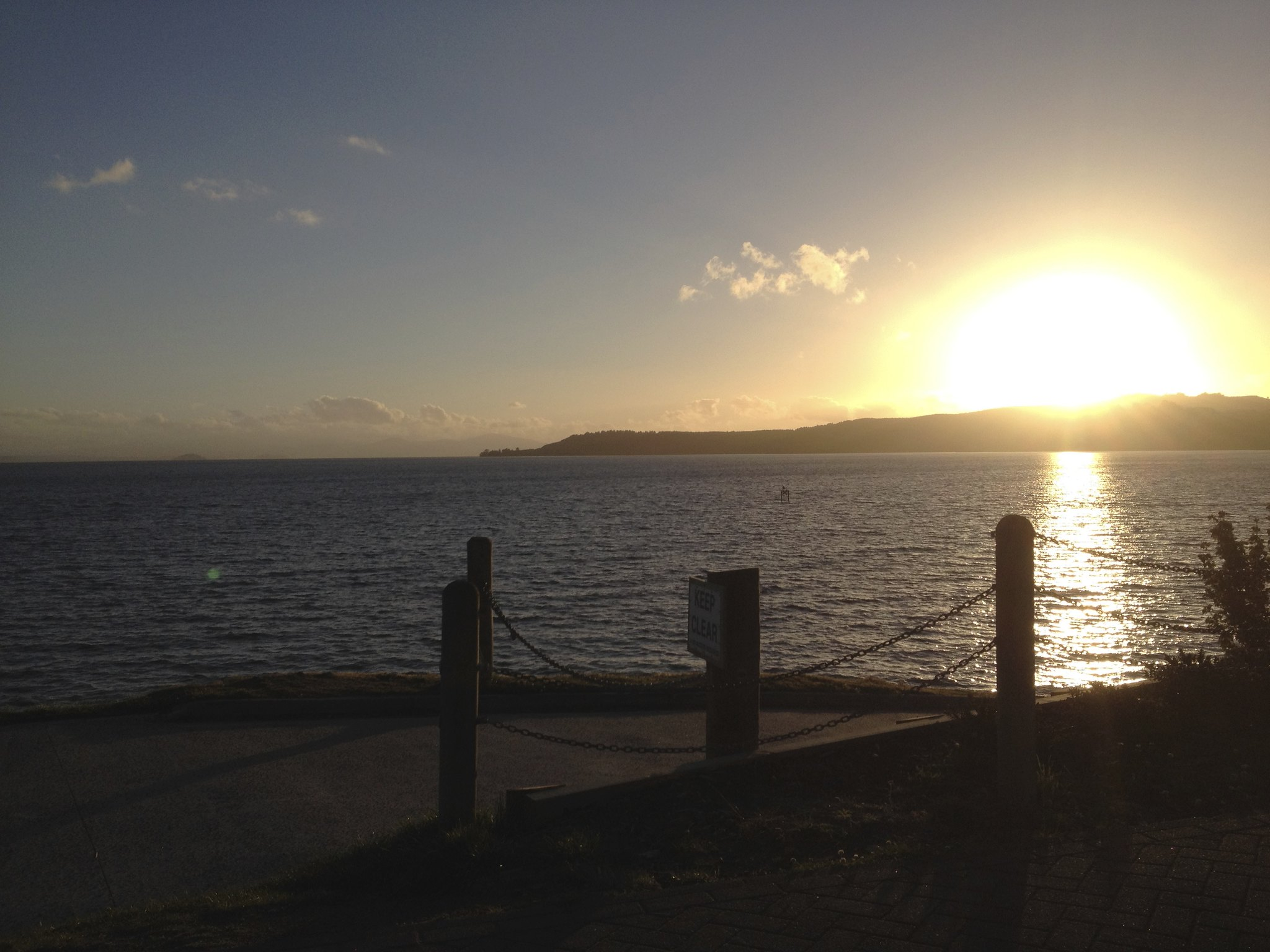 Sunset, Lake Taupo