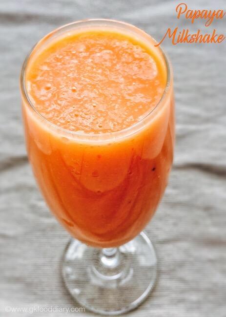 Papaya Milkshake 1