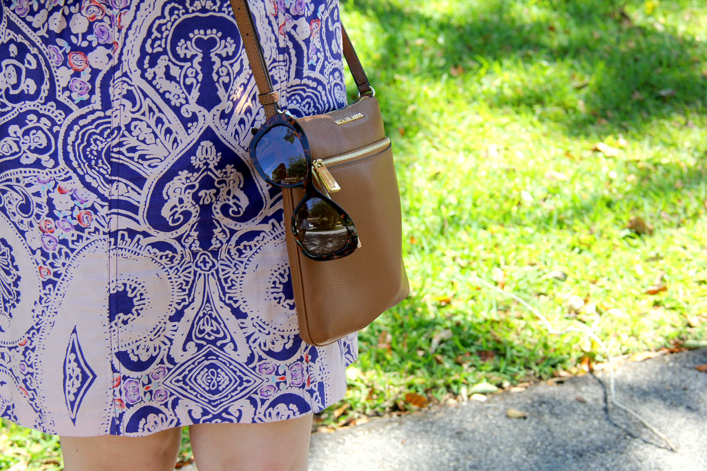 purple print southern boho summer dress