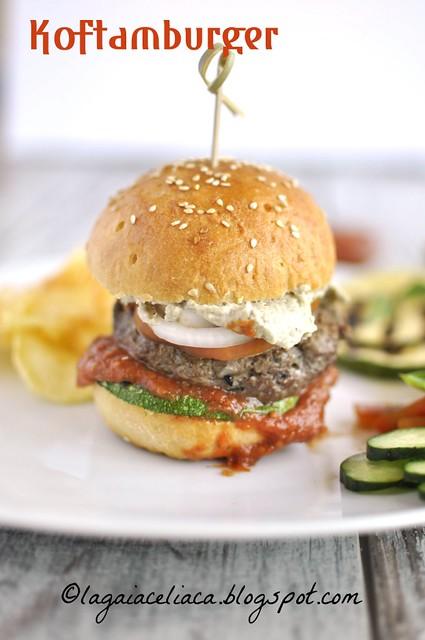 gluten free kofta-burger