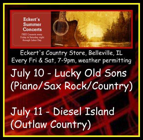 Eckert's Summer Concerts 7-10, 7-11-15