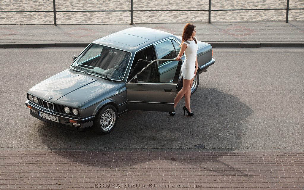 BMW E30 sedan classic with a woman | trying new things - mod… | Flickr