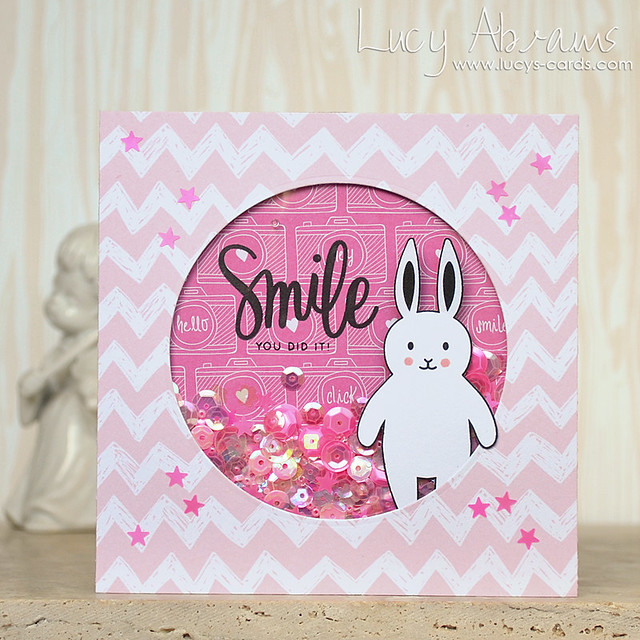 Smile Shaker Card by Lucy Abrams