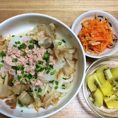 STAUBで「ツナ人参の炒めサラダ」「鯖そぼろ」「蒸し鶏」を作〜る〜