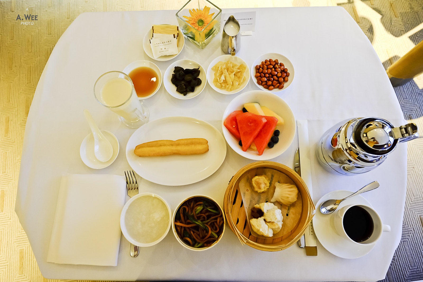 Chinese breakfast platter