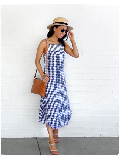 Hello Parry Checked Dress