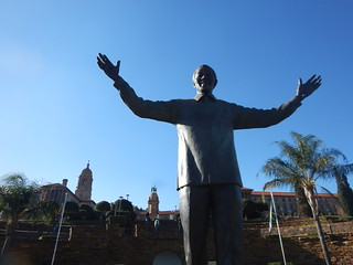 Welcoming Mandela at the Union Buildings, Pretoria