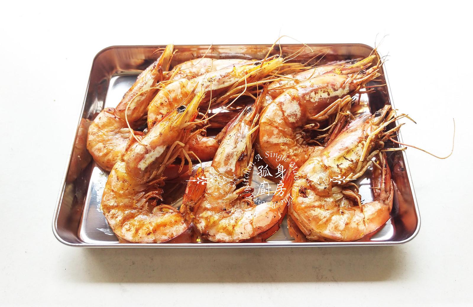 孤身廚房-墨西哥烤紅爐蝦酪梨芒果莎莎醬塔可(下)-烤紅爐蝦酪梨芒果莎莎醬6