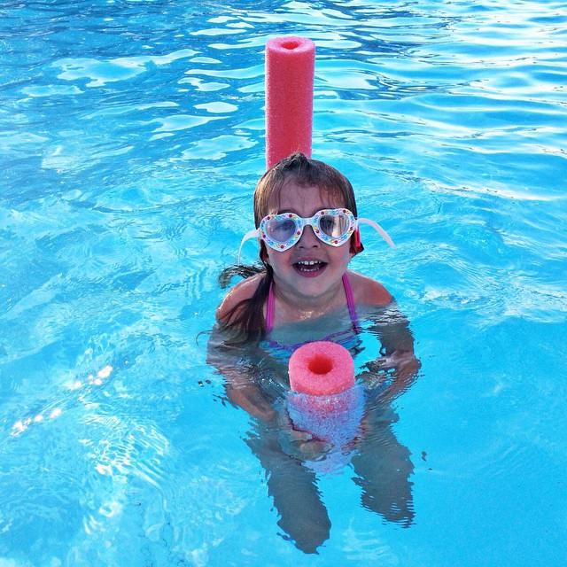 Even in the pool she is styling! #missz