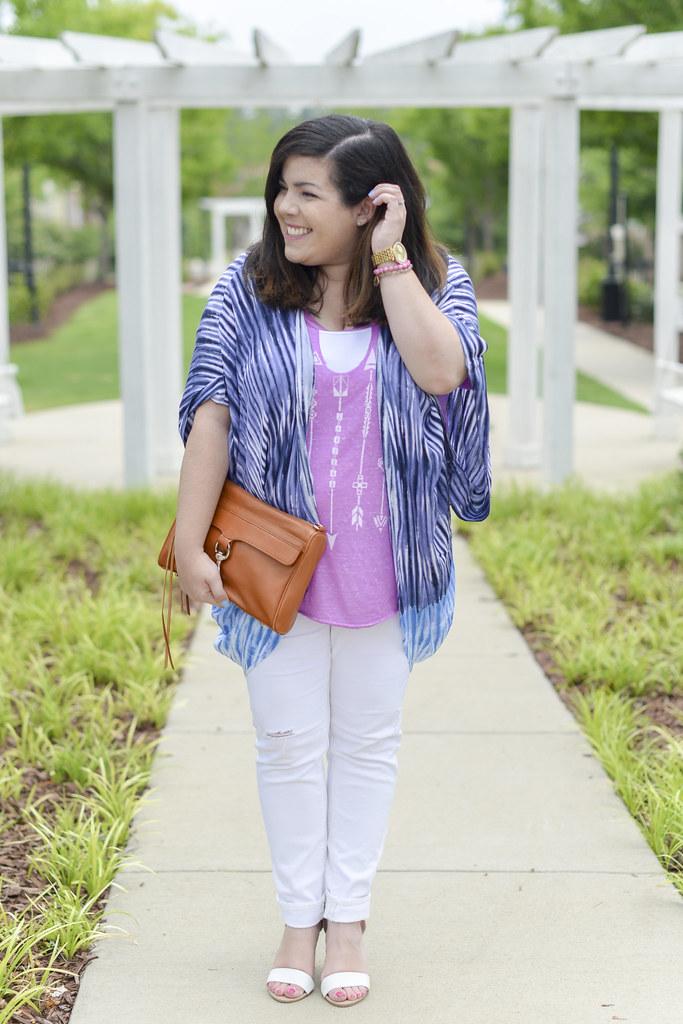 Kimono and White Jeans