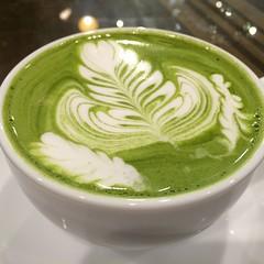 matcha latte #mondialkaffee328 #osaka #matchalatte #japan #抹茶ラテ