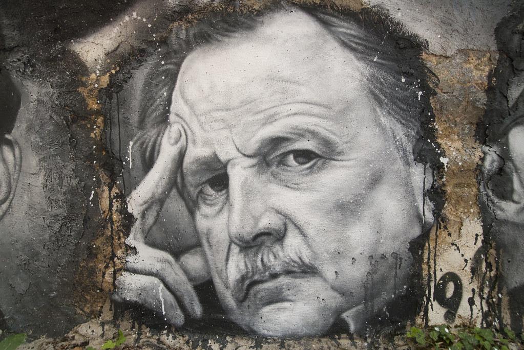 Regis Debray, painted portrait _DDC2453