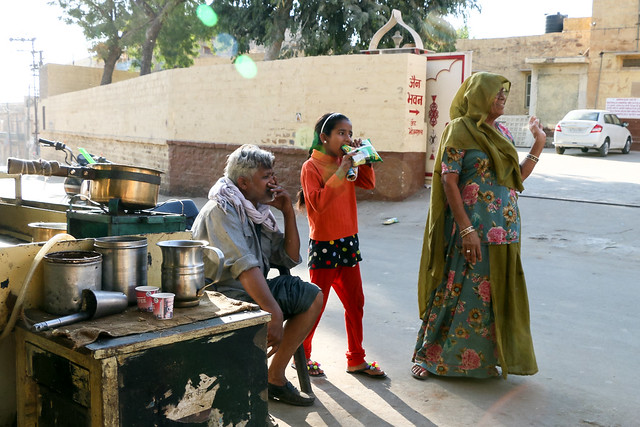 From a tea house, Jaisalmer, India ジャイサルメールのローカルなチャイ屋