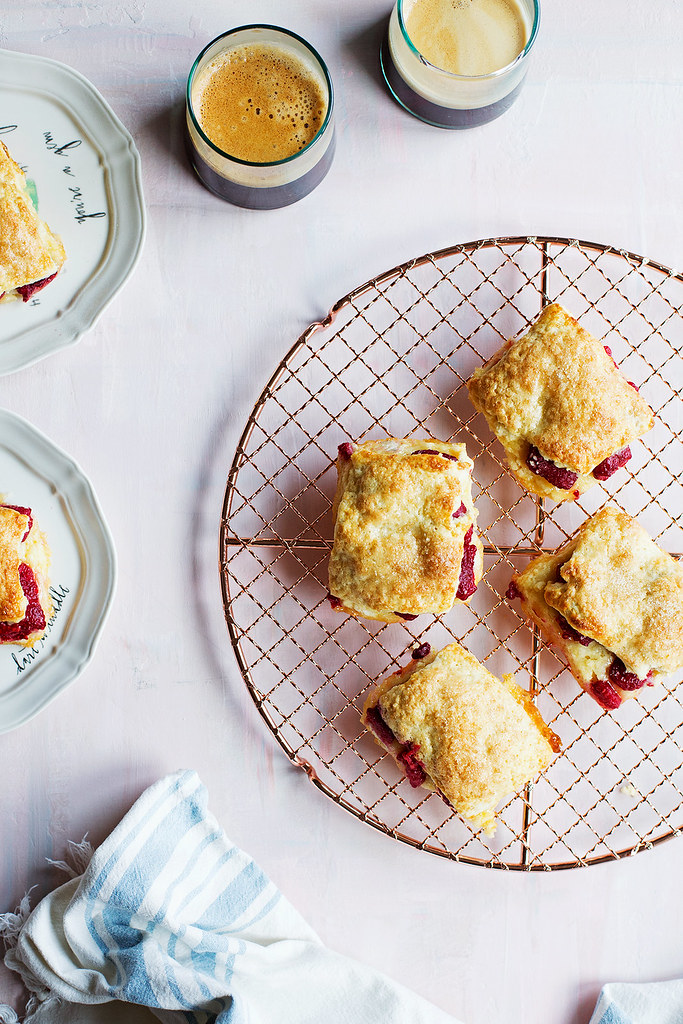 Raspberry Sandwich Scones
