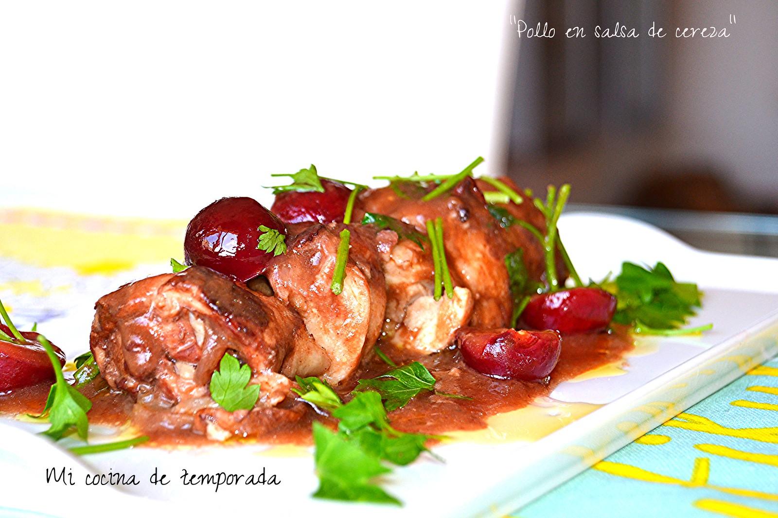 Pollo en salsa de cerezas 007