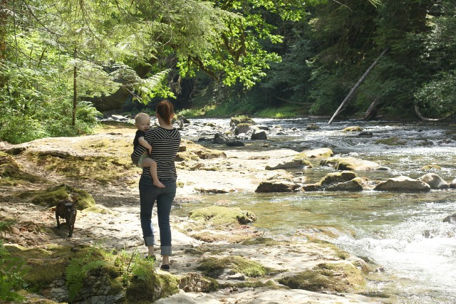 mama and leo river
