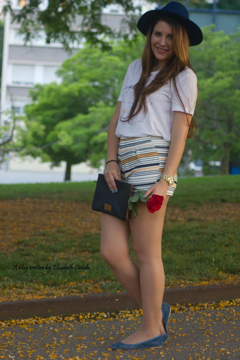 shorts stradivarius sombrero clutch azul  (6)