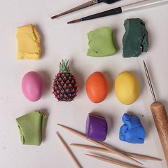 This is going to be fun 🙌 #Miniatureart #sculpture #WIP #pineapple