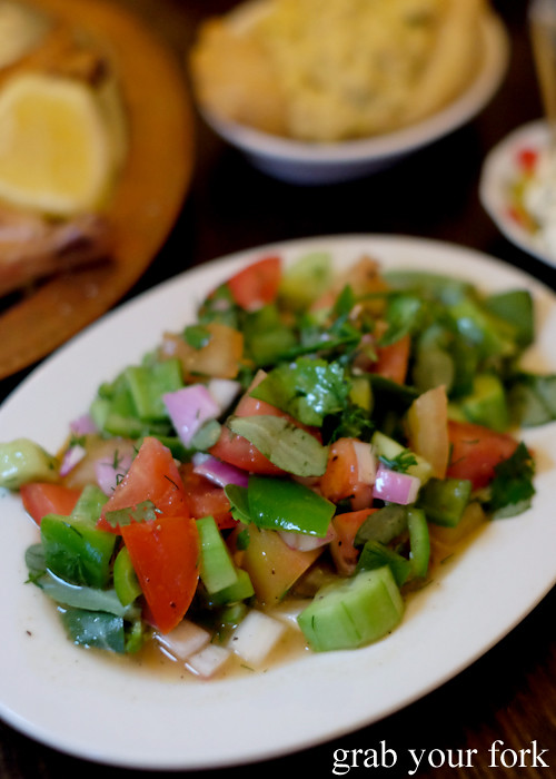 Coban salatasi shepherds salad at Stanbuli in Enmore