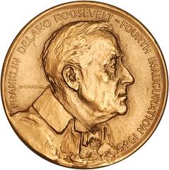 1945 Roosevelt Inaugural Medal obverse