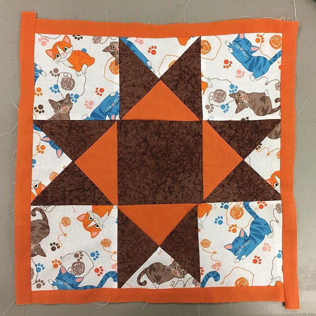 Not perfect but not bad for my first quilt square.