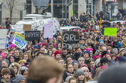manif des femmes women's march montreal 15 | by Eva Blue