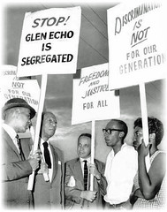 Civil rights leaders bolster line at Glen Echo: 1960