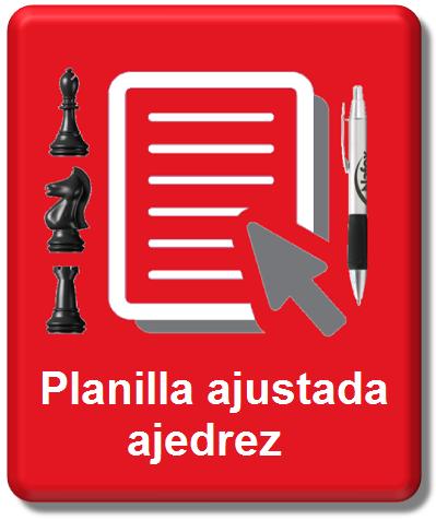 Planilla ajustada ajedrez