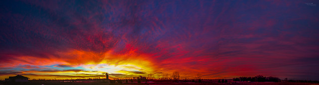 122016 - Incredible Nebraska December Sunset (Pano)